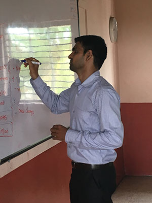 Nirav Doshni B.Com, B.Ed and M.B.A. Teaching grades 6-8 in BNB School, English